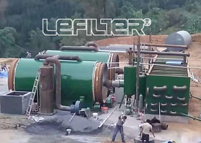 贵州某地区废旧轮胎炼油设备日处