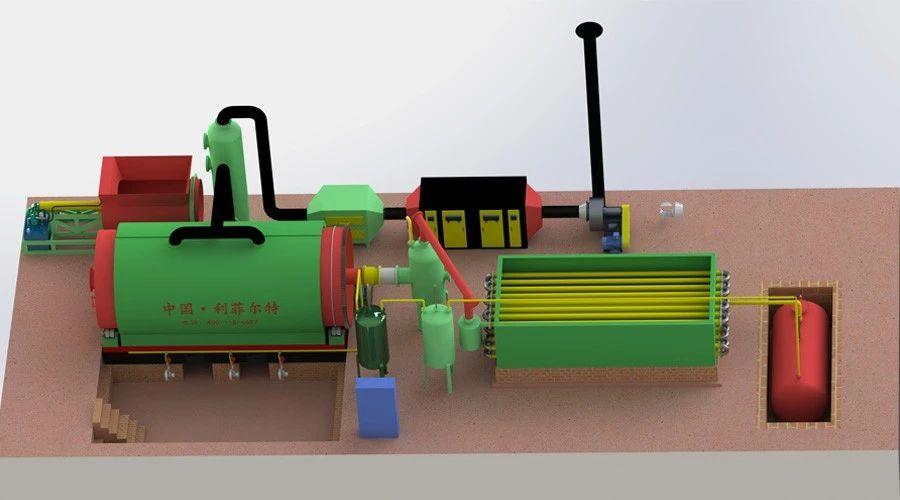 6吨废橡胶炼油设备