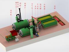 废轮胎炼油设备生产线的各部分功能
